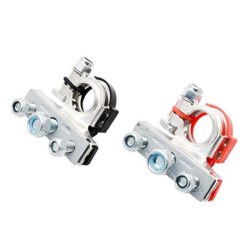 ANKILE Set di Morsetti per batterie per Auto in Materiale Rame Puro Terminali per batterie a 3 Vie Connettori positivi e Negativ