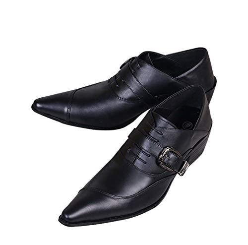 BHPL Herren-Abendschuhe, Herren Classic Modern Formal Oxfords, Schnürschuhe mit Lederfutter, Herren-Abendschuhe,46