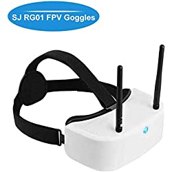 Hankermall SJ RG01 Gafas FPV 5.8G 48CH DVR FPV Headset Dual-Displays Diversidad FPV Video Gafas