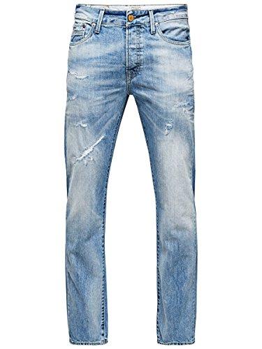 JACK & JONES Herren Jeans Skinny Normaler Bund TIM ORIGINAL Blau