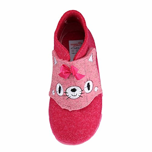 Superfit  7-00295-62 Happy, Chaussons pour fille Rose