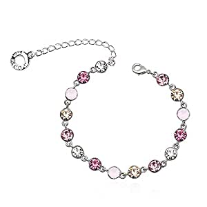 PARK AVENUE - bracelet MULTICOLOR - rose - Made with Crystals from Swarovski