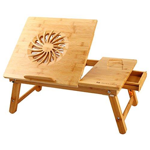 Schreibtisch Couch (Laptoptisch NEWVANTE Verstellbarer Laptop BettTablett Tisch,Tragbare Laptop Schreibtisch Faltbare Laptop Tischständer Frühstück Sevilla Tablett Kühlung Schreiben Kipp-Tablett-einem großen Fan)