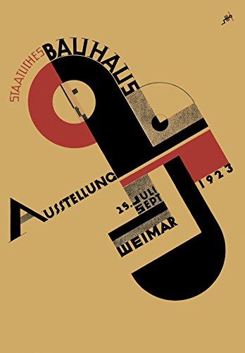 World of Art Kunst-Poster, Vintage-Motiv Bauhaus 1923, von John Schmidt, 250 g/m², glänzend, A3 - Bauhaus-kunst