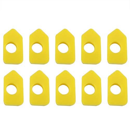 Remplacement de mousse jaune de filtre à air 10PCS pour Briggs & Stratton 986434