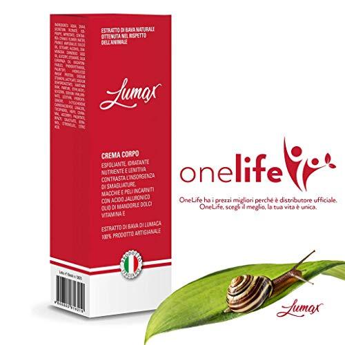 lumax crema corpo - 200 ml - altissima concentrazione - prodotto artigianale 100% italiano