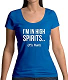 I'm In High Spirits… It's Rum Lustiges Damen T-Shirt mit Rundhalsausschnitt - Royalblau - XL
