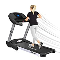 PowerMax Fitness Unisex Adult TD-M1 Urbantrek (4.0 Hp) Plug And Run Treadmill With Android & Ios App - Black/Grey, Modern-Compact