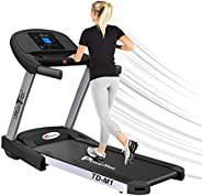 PowerMax Fitness Unisex Adult TD-M1 Urbantrek (4.0 Hp) Plug And Run Treadmill With Android & Ios App - Bla