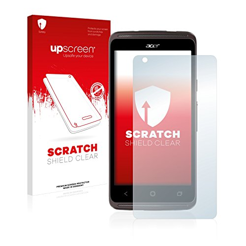 upscreen Scratch Shield Schutzfolie kompatibel mit Acer Liquid Z410 Plus - Kristallklar, Kratzschutz, Anti-Fingerprint