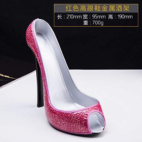 Schuh-präsentationsständer (Kreativer Präsentationsständer für Schuhe mit hohen Absätzen Rotweinregal, Krokodilrot)