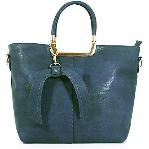 LeahWard Donna Fashion Patent borsetta ConBow Donna Chic High Qualità