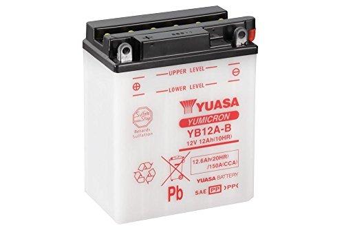 Preisvergleich Produktbild Batterie YUASA YB12A-B,  12V / 12AH (Maße: 136x82x162) für Honda XL600 V Transalp Baujahr 1987