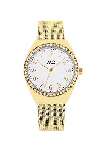 MC Timetrend Damen Analog Quarz Uhr mit Edelstahl Armband 51743