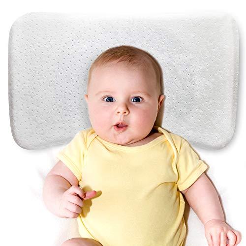 babykissen gegen plattkopf mit zwei Bezügen zur Heilung und Vorsorge der Plagiozephalie Orthopädisches Babykopfkissen - Perfect Head - Baby-kissen Flat Head