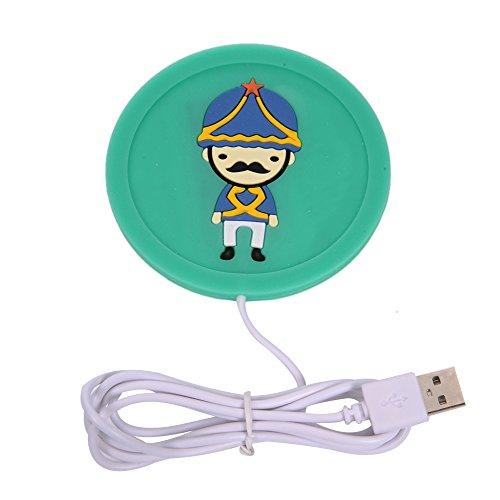 Komfort Hand-Mauspad, Gel-Handgelenkauflage-Kissen, USB-Lampe, Arm-Untersetzer, Handgelenkstulpen, Tastatur-Reiniger für Computer, Notebook, Laptop, PC (grün) warmer coaster Green Green Coaster