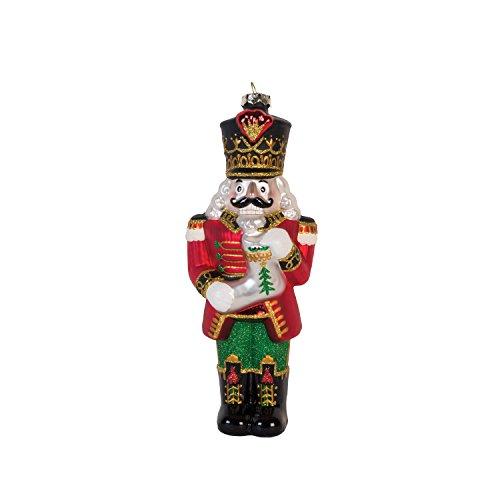 Fitz Und Floyd Ornamente (Fitz and Floyd Nussknacker mit Boot-Ornament, Weihnachtsmotiv, Rot Nutcracker with Stocking Glass Ornament)