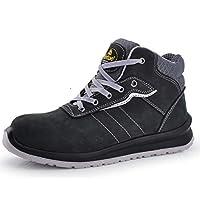 SAFETOE M-8440 S3 SRC Composite Toe Anti Nail Meal Free Plate Nubuck Leather (UK 12) Black