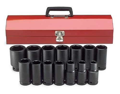 SK Hand Tools 87914 14-Piece 3/4-Inch Drive 6 Point Deep Fractional Impact Socket Set by SK Hand Tool -