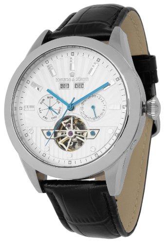 Herzog & Söhne Herren-Armbanduhr XL Analog Automatik Leder HS512-112