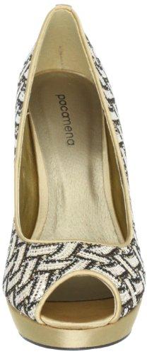 Paco Mena Danphne 04884, Scarpe con tacco donna Oro (Gold (Gold/Braun 29))