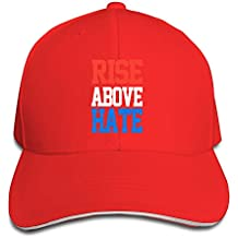 hittings Unisex Rise Above Hate John Cena Adjustable Peaked Béisbol Caps Hats Red