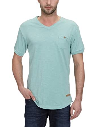 SELECTED HOMME Herren T-Shirt 16025635 Lawrence V-Neck, Gr. 54 (XL), Blau (Aquifer)