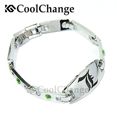 Kostüm English Old - CoolChange Death Note L Metall Armband mit Deko Steinen