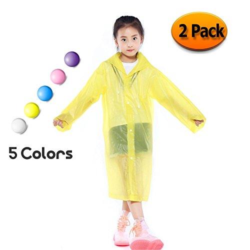 Poncho impermeable para niños, portátil, PVC, ligero, con capucha y mangas, perfecto...