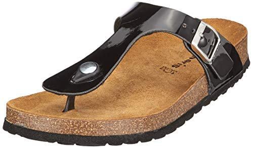 Tamaris Damen 1-1-27522-22 Pantoletten, Schwarz (Black Patent 18), 39 EU 1 Black Patent Schuhe