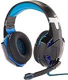 Mod-It Headset PS4: Beleuchtetes Gaming-USB-Headset mit 7.1-Sound und Kabelfernbedienung (Game...