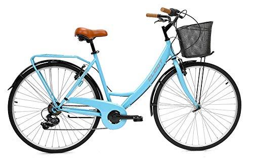 CLOOT Bicicleta de Paseo Relax 700 Shimano 6V Azul