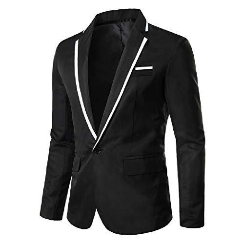 Energy Mens Outwear Relaxed-Fit One Button Business Plus-Size Blazer Black 4XL (Black Size Blazer Plus)