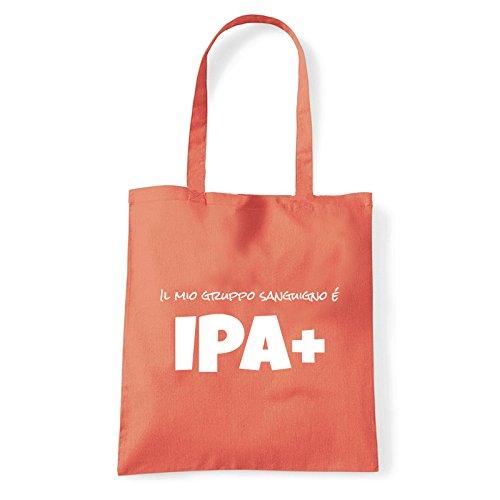 Art T-shirt, Borsa Shoulder IPA+, Shopper, Mare Corallo