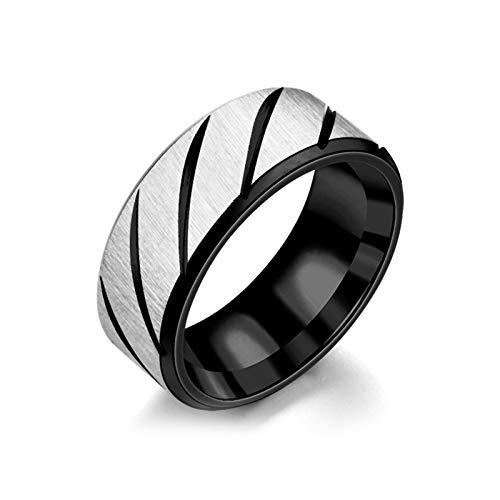 Daesar Edelstahl Ring Trauring Freundschaftsring Herren Rund Matt Breit 8 MM Schwarz Partnerringe Preis für 1 Stuck Gr.67 (21.3) (Geschenk-karten Automotive)