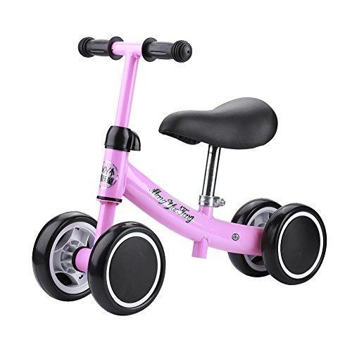 Cocoarm Kinder Laufrad Spielzeug Kleinkind Dreiräder Balance Roller Balance Training Mini Bike Erst Fahrrad für Jungen Mädchen 1-2 Jahre Alt (Rosa)