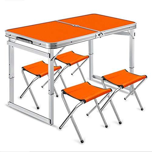 Anyer Tap Klapptisch Camping-Camping Jochbrücke Picknick Aluminium-Klapptisch Im Freien Beweglichen Picknick-Tisch Freizeit Einfacher Tisch Und Stuhl,Rot