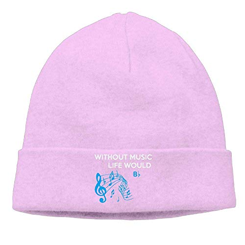 Funny Hip hop Unisex Fashion Knitting Hat for Unisex, Without Music Life Would B Watch Cap