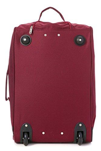 5 Cities Cabin Handgepack Leicht Trolley Taschen 42L (1 Stück, Taschen und Schuhe - Schwarz) Wein