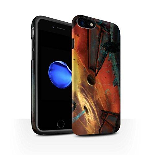 Offiziell Chris Cold Hülle / Matte Harten Stoßfest Case für Apple iPhone 7 / Pulsar/Neutron Stern Muster / Galaktische Welt Kollektion Schwarzes Loch