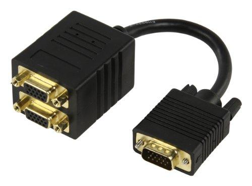 Valueline CABLE-560 VGA répartiteur vidéo - Répartiteurs vidéo (VGA, Or, 0,15 m, Noir)