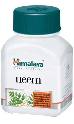 Himalaya Systemische Luftreiniger und Blut-Detox-Ergänzung - unterstützt natürliche Reinigung des Körpers - löscht Giftstoffe und fördert gesunde Haut-Neem-Kapseln, 60 Count