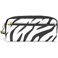 4abb518fa9 Free Tiger Stripe bianco stile matita di grande capacità sacchetto della  matita resistente con doppia cerniera