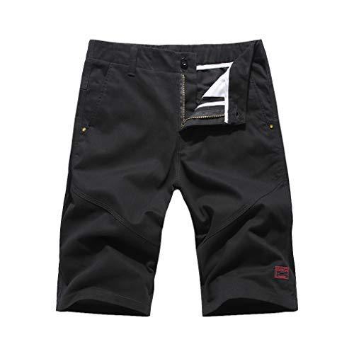 Moserian Mode Herren Lässige Pure Color Tasche Overalls Wind Overalls Shorts