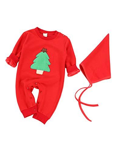 (BESBOMIG Unisex Neugeborenes Overall Strampelhöschen Baby Pyjamas - Gemütlich Kostüme Kleider Weihnachten Ein Stück Body)