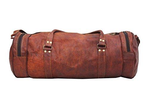 """handmadecraft indiano Vintage da uomo 22""""in pelle borsone viaggio borsa grande marrone Brown Grande Brown"""