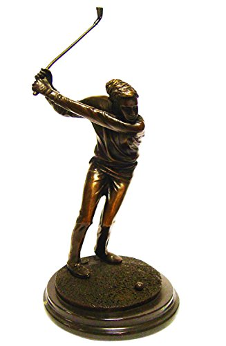 Statue de bronze sculpture golfeur golf figurine style antique - 33cm