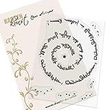 Clear Stamp-Set Stempel-Gummi Karten-Kunst - Spiral-Text Weihnachten