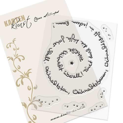 Clear Stamp-Set Stempel-Gummi Karten-Kunst - Spiral-Text Weihnachten -
