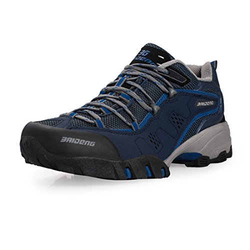 SANANG Herren Sport Outdoor Schuhe Trekking Wanderhalbschuhe Dunkelblau